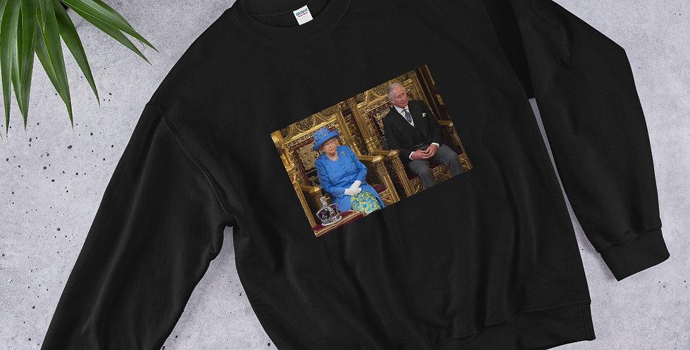 Custom Designed Queen Elizabeth & Prince Charles Unisex Sweatshirt
