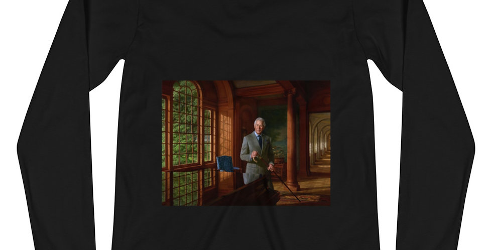 HRH Prince Charles Portrait Unisex Long Sleeve Tee