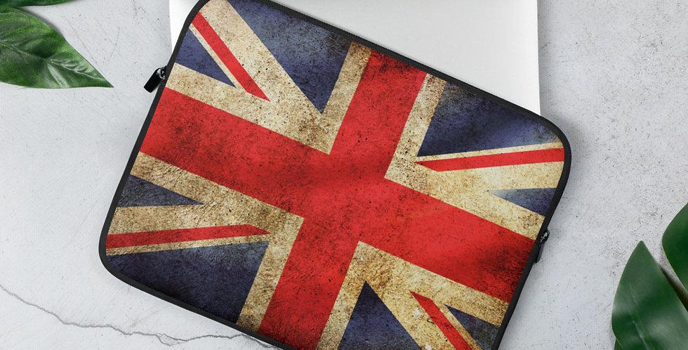 Custom Designed UK Flag Laptop Sleeve
