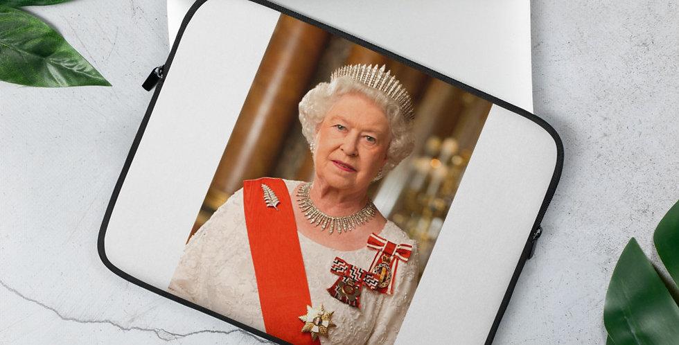 Custom Designed Her Highness Queen Elizabeth Laptop Sleeve