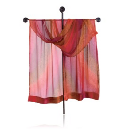 Hand Painted Silk Ruana from the Fire Collection Cayenne spicychili peppers, an ombréof sienna, crimson and tomato red