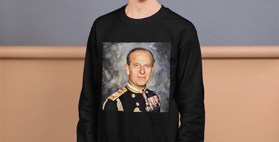 Prince Philip Personalised Portrait's Unisex Sweatshirt