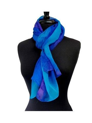 Silk Shawl - Azul Infinity