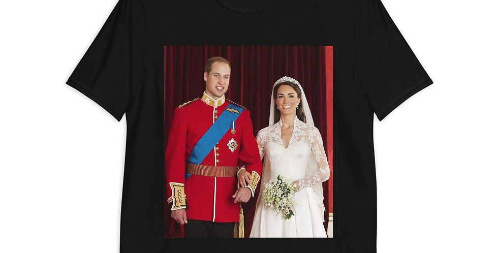Custom Design Prince William & Duchess Of Cambridge Short-Sleeve Unisex T-Shirt