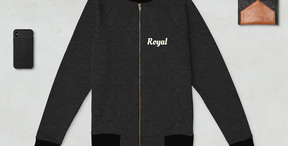 Custom Designed Royal Unisex Bomber Jacket