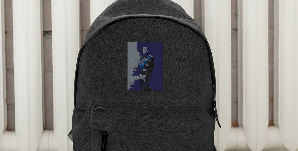 Personalised Prince Philip Embroidered Backpack