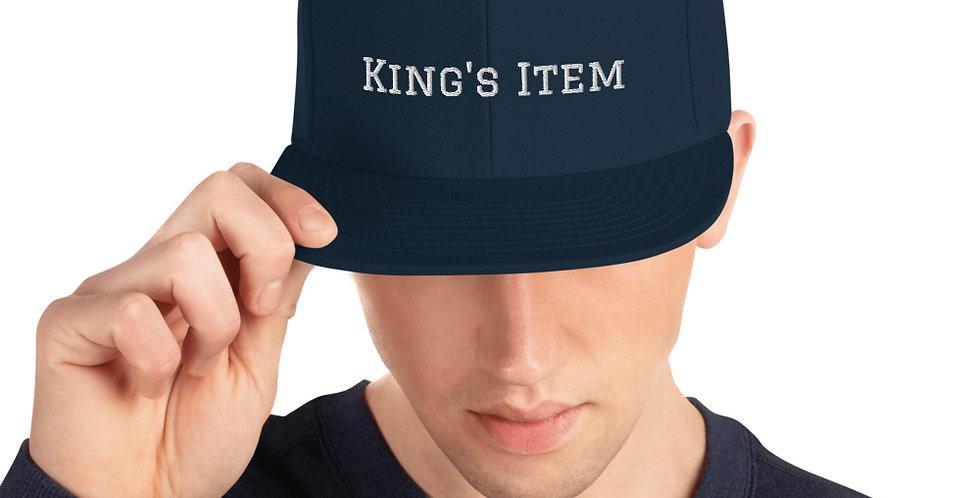 Customised 'King' Snapback Hat