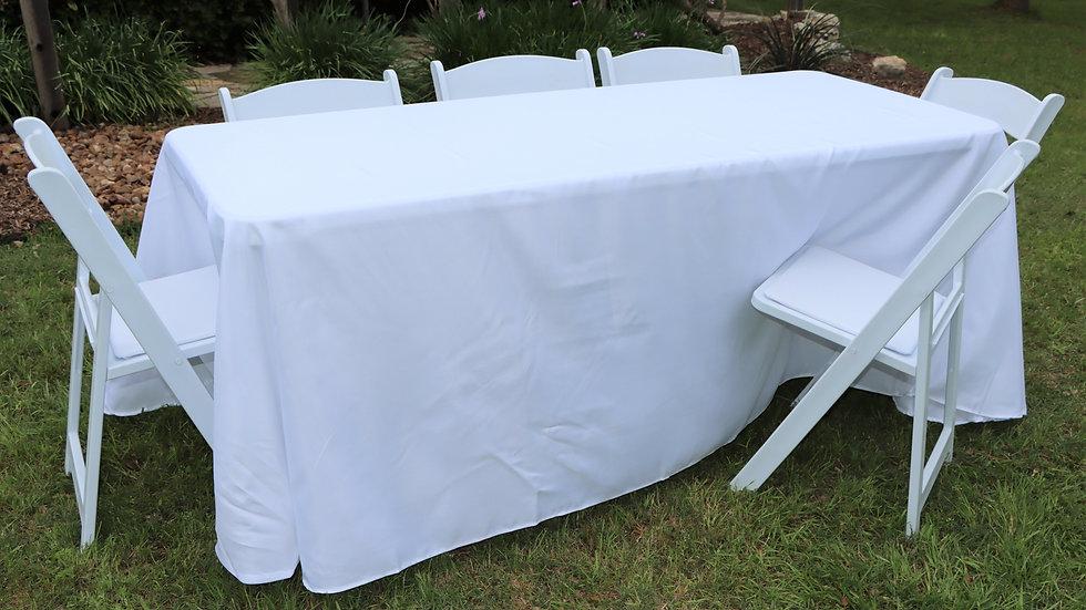 8' tablecloth w/ floor drop