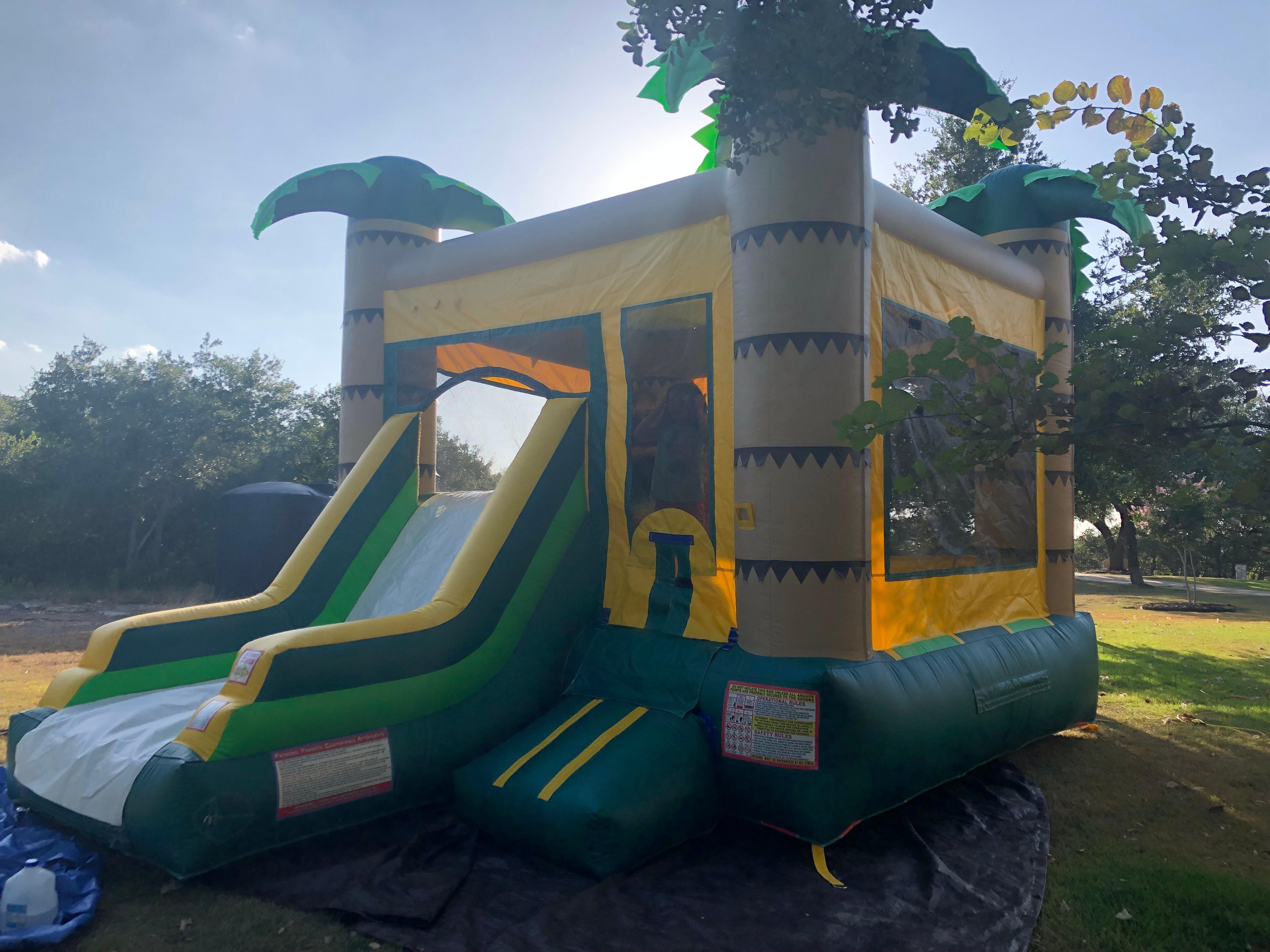 Jungle Bounce House/Slide Combo