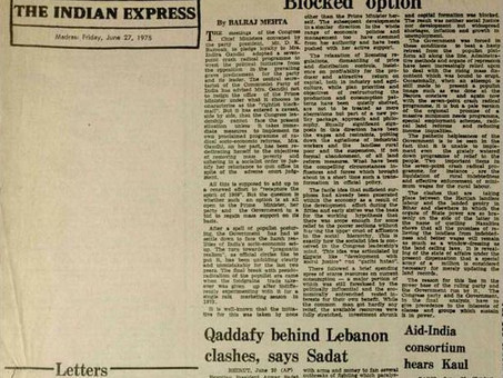 Pressing the Press: Recalling the Emergency of 1975, an indelible blot on Indian Democracy