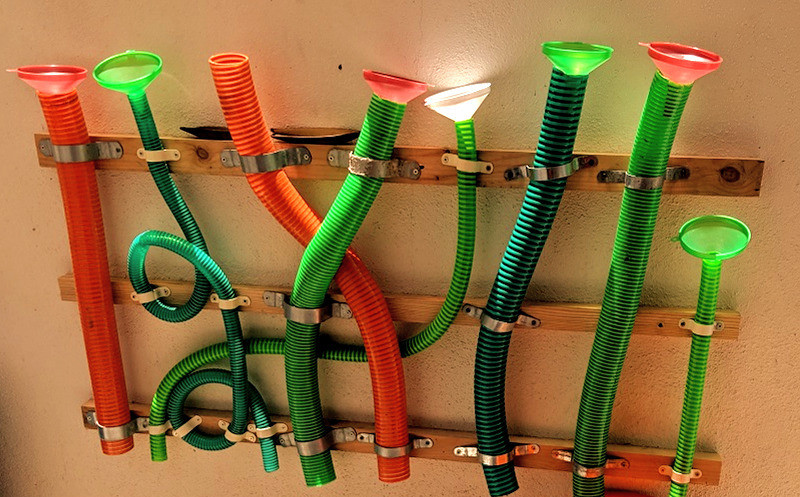 Water Pipes and Funnel