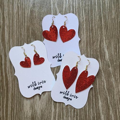 "Valentine Red ""Disco Ball"" Hearts"