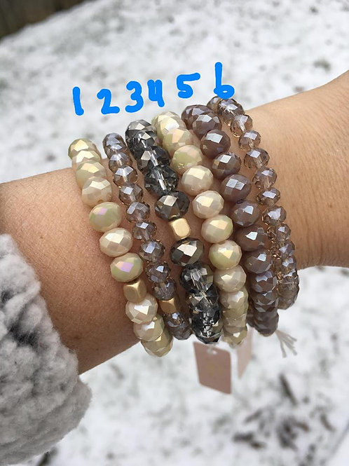 Love Poppy Jewels ~ Sparkly Beaded Stretch Bracelets