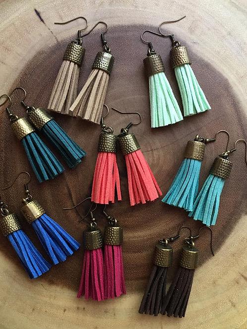 Bronze Finish Tassel Earrings