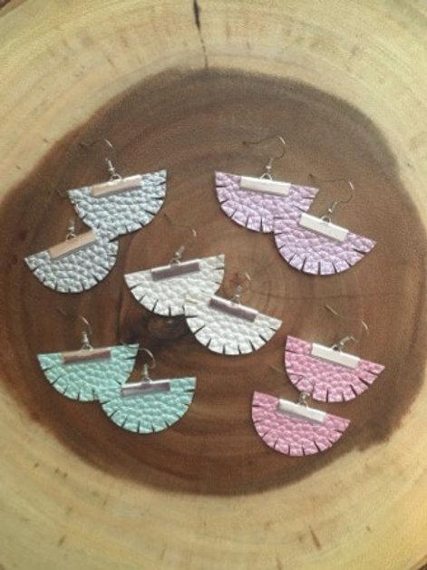 Pearly Boho Fan Earrings