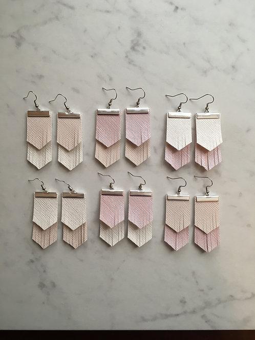 Boho Fringe Earrings in Shimmer Neutrals