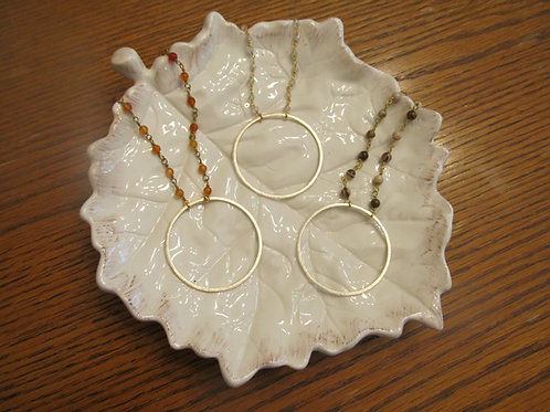 Love Poppy Jewels ~ Rosary Hoop Necklaces