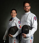 Lisa Huzel and Kyle Foster Fencing
