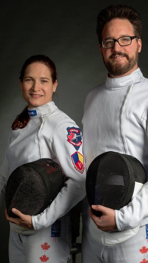 Lisa Huzel and Kyle Foster