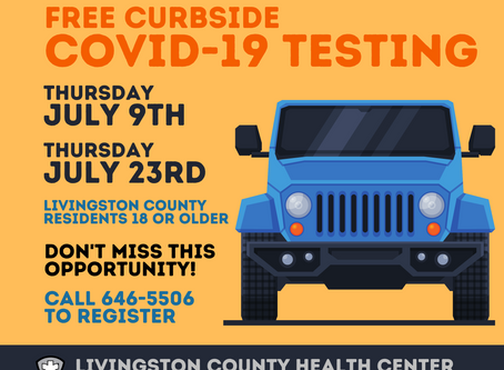 Curbside COVID-19 Testing in July...