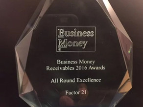 Factor 21 receive an award for All Round Excellence!