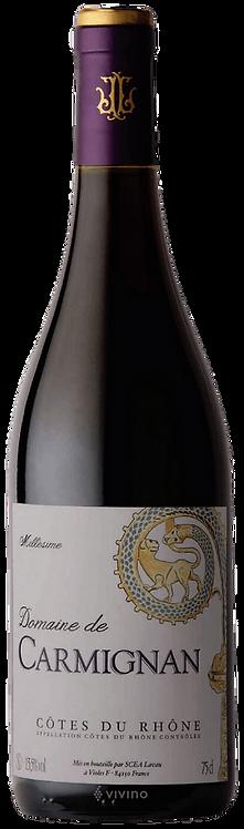 """Domaine CARMIGNAN """"Cote du Rhône"""" rouge 2018 75cl"""