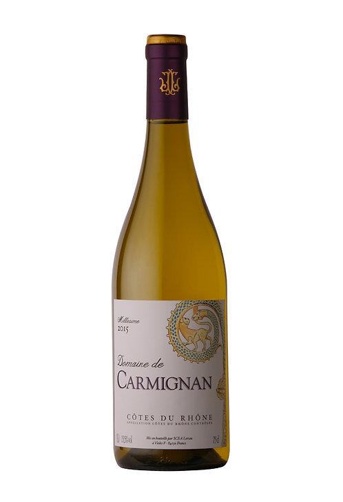 """Domaine CARMIGNAN """"Cotes du Rhône"""" blanc 2019 75cl"""