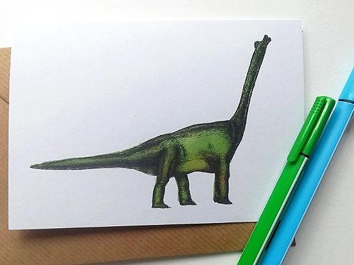 Bronty Dinosaur  Card