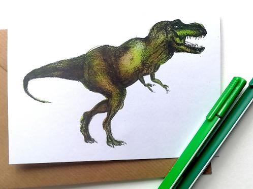 T-Rex Dinosaur Card