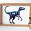 Thumbnail: Unframed A4 Velociraptor Giclée Print
