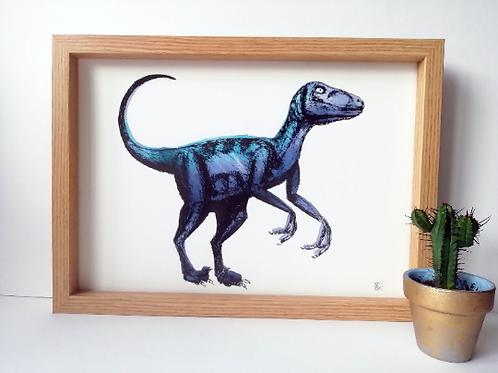 Unframed A4 Velociraptor Giclée Print