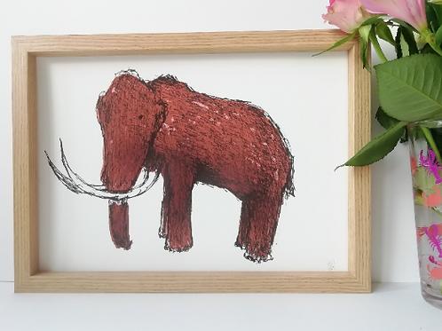 Unframed A4 Mammoth Giclée Print