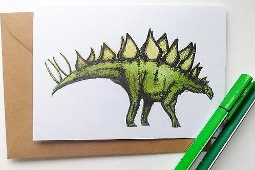 Stego Dinosaur Card