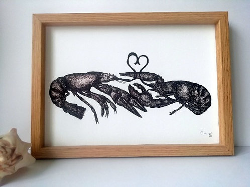 Unframed A4 Lobster Giclee Print