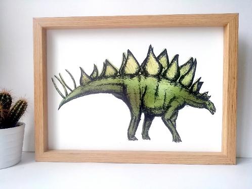 Unframed A4 Stegosaurus Giclée Print