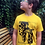 Thumbnail: Sunflower Yellow Giraffe hand screen printed Kids t-shirt