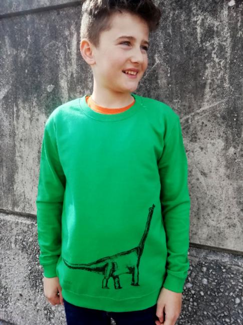 Brontosaurus Dinosaur Unisex Children's sweatshirt - Hare Raising Designs