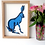 Thumbnail: Unframed A4 Blue Hare Giclée Print