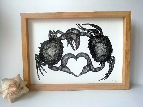 Unframed A4 Crab Giclee Print