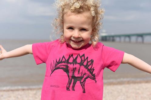 Organic Stegosaurus Kids T-Shirt