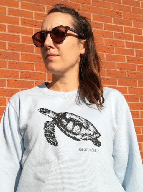Blue Sea Turtle Unisex Sweater