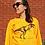Thumbnail: Golden Yellow T-Rex Unisex Adult hand screen printed Sweater