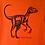Thumbnail: Organic Unisex Velociraptor Dinosaur hand screen printed t-shirt