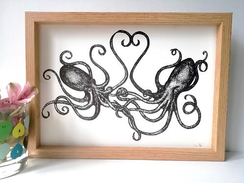 Unframed A4 Octopus Giclée Print