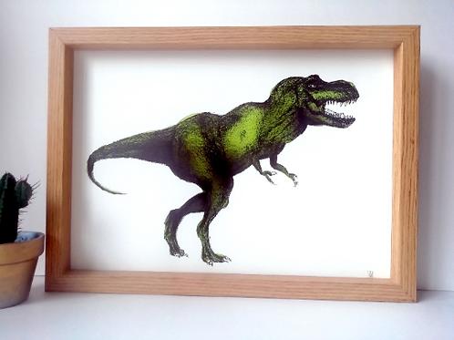 Unframed A4 T-Rex Giclée Print