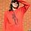 Thumbnail: Burnt Orange Orangutang Unisex Adult Hand Screen Printed Sweater