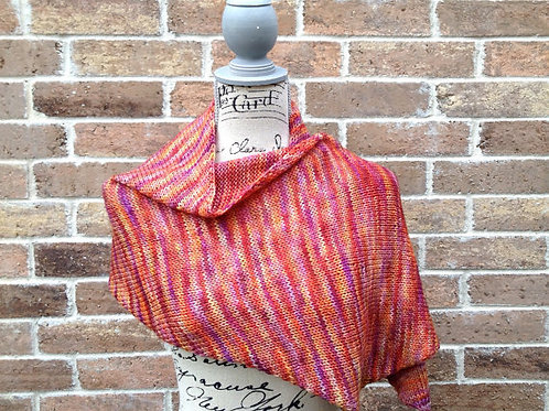 Diagonal Wrap Digital knitting Pattern Beginner