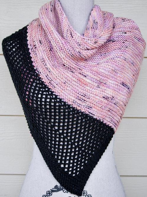 Garter Graffiti Shawl  Digital knitting Pattern Beginner