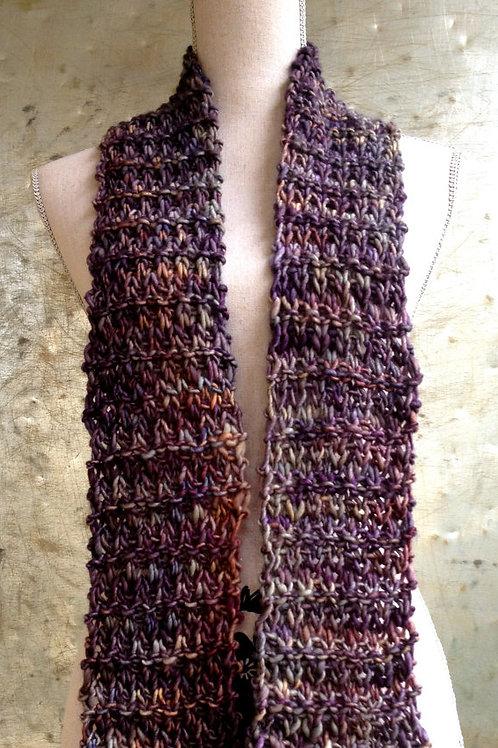 Broken Seed Scarf Digital knitting Pattern Beginner