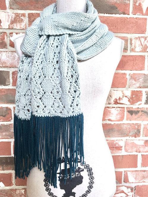 Diamonds and Lace Scarf Digital knitting Pattern
